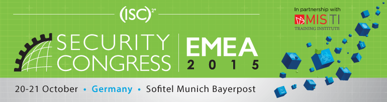 (ISC)² Security Congress EMEA 2015 à Munich
